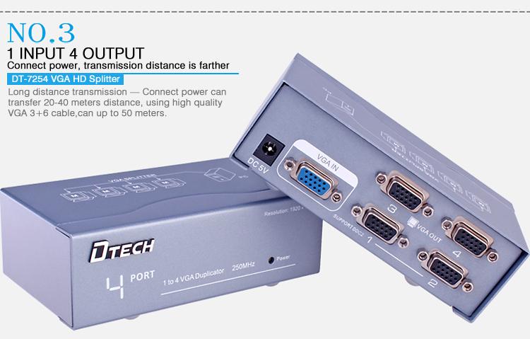 VGA Splitter 1 Input 4 Output