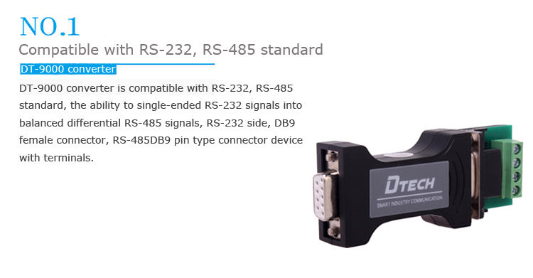 Dt 9000 Passive Rs232 To Rs485 Converter Industrial