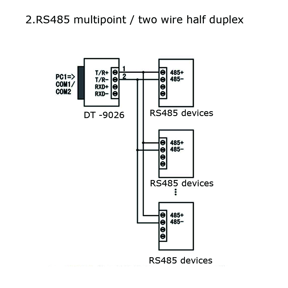 Pleasing Dtech Dt 9026 Active Rs232 To Rs485 Rs422 Converter Industrial Wiring Cloud Hisonuggs Outletorg