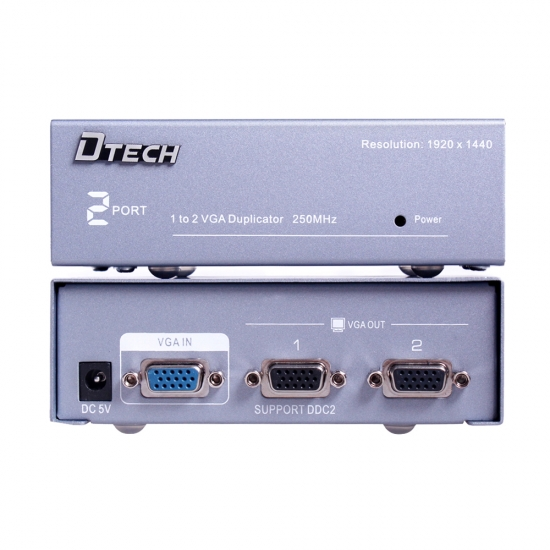 VGA Splitter 2 Port 250mhz